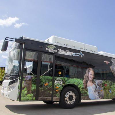 Electric Bus in Kuranda in Cairns, Queensland
