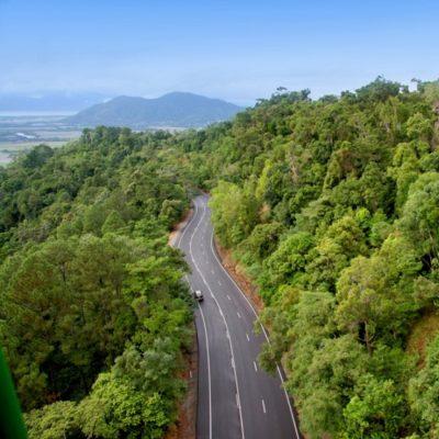 Kuranda Range road in Cairns